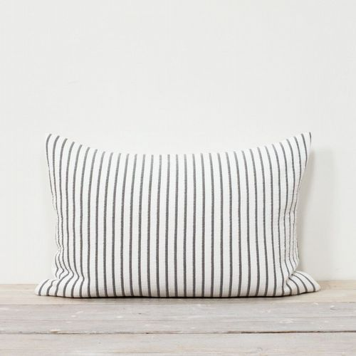 Bed Cushion - Striped - Blue or Grey With White